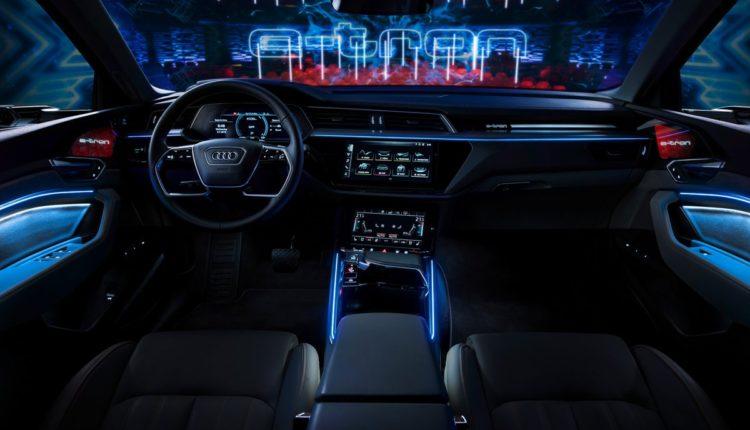 audi eléctrico e tron interior diseño