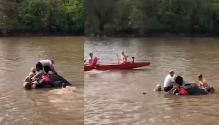 mujer rescatada auto