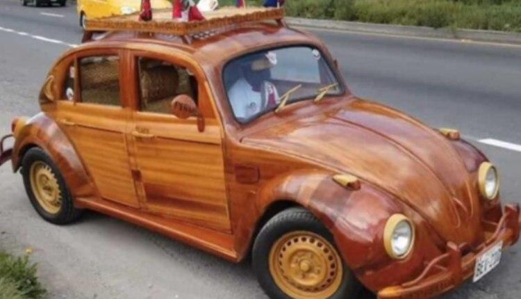volkswagen de madera