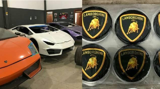 fabrica Lamborghinis y Ferraris falsos