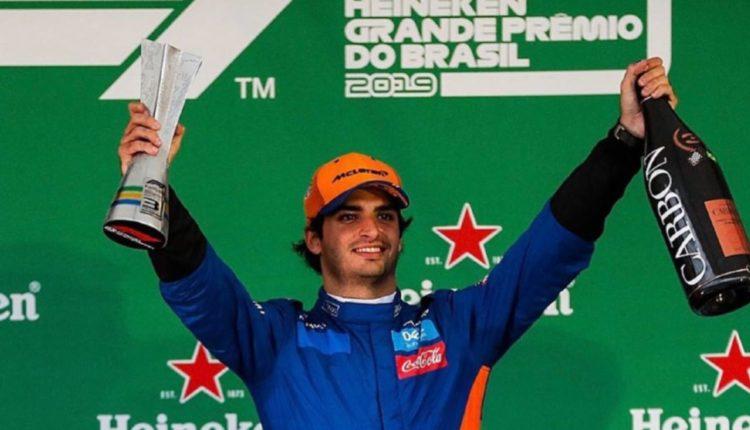 carlos sainz podium brasil
